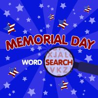 image about Memorial Day Word Search Printable identified as Small children Getaway Phrase Look Puzzles - Memorial Working day ABCya!